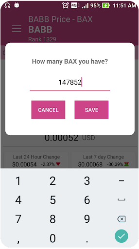 babb cryptocurrency price