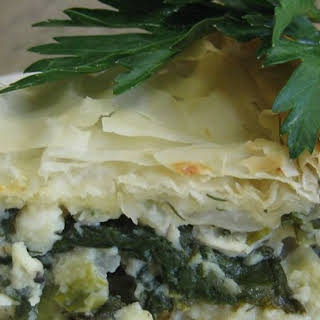 Spanakopita (Greek Spinach Pie).