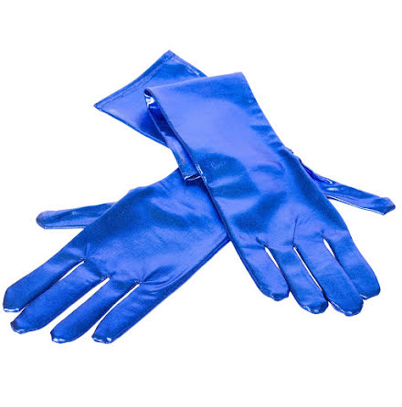 Handskar, metallic blå