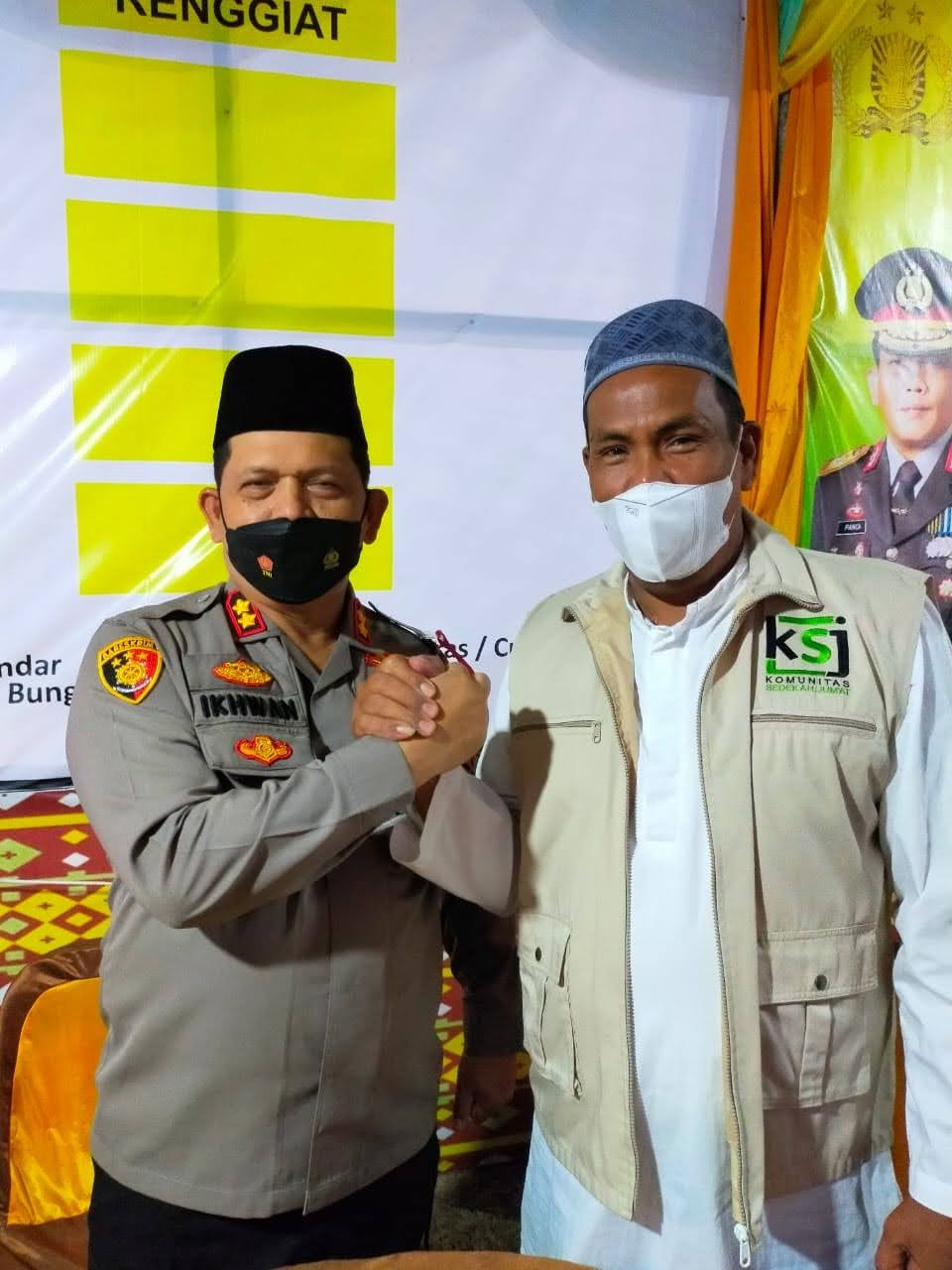 Dukungan Penuh Untuk Ksj Para Imam Masjid Di Seluruh Kecamatan Tanjung Tiram Memakai Rompi Ksj