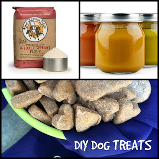 DIY Dog Treats - Two Ingredient Recipes #atozchallenge.