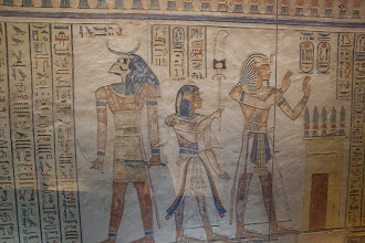 Photo: QV55, tomb of Amenherkhepshef -Khnum/Dendenyi?, son, and Ramses III