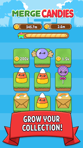 Merge Candy - Kawaii Idle Evolution Clicker Game 1.03 {cheat|hack|gameplay|apk mod|resources generator} 2