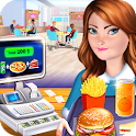 High School Café Cash Register Girl icon