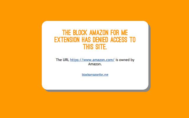 Block Amazon For Me