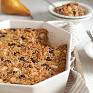 Baked Blueberry-Pear Spiced Oatmeal