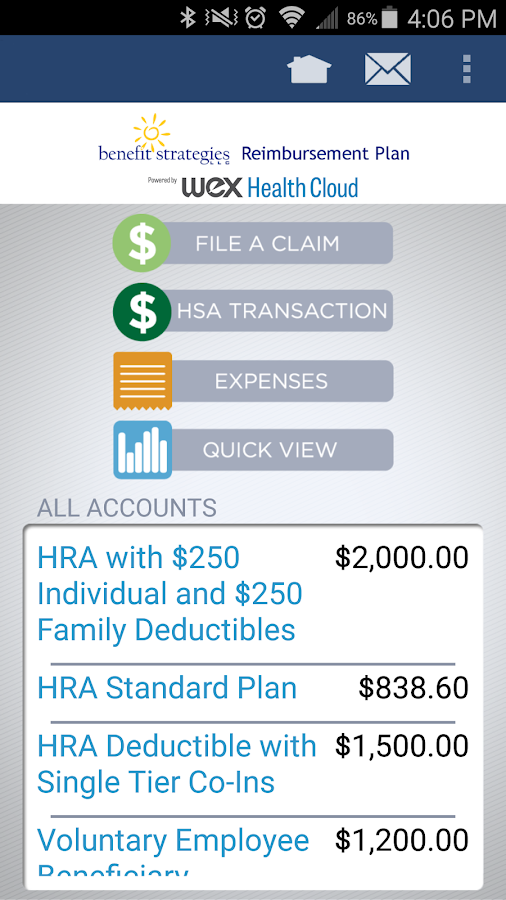 BenStrat Reimbursement Plan- screenshot