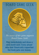 Photo: This card will only be available on Board Game Geek. They get the card for free. The proceeds of the card will go to BGG for continued support of that wonderful Web site.