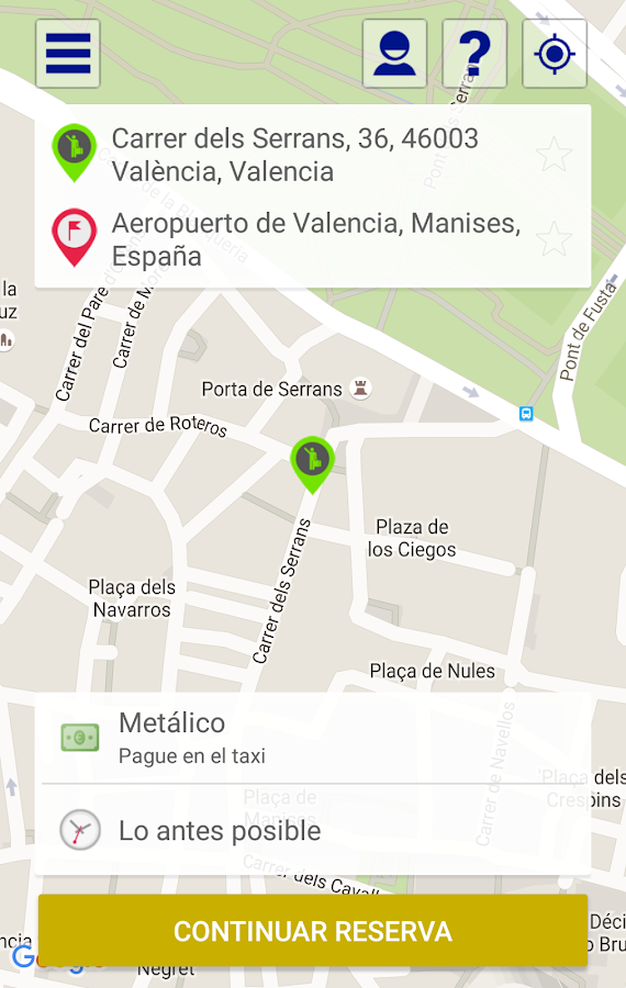 taxis valencia android apps on google play