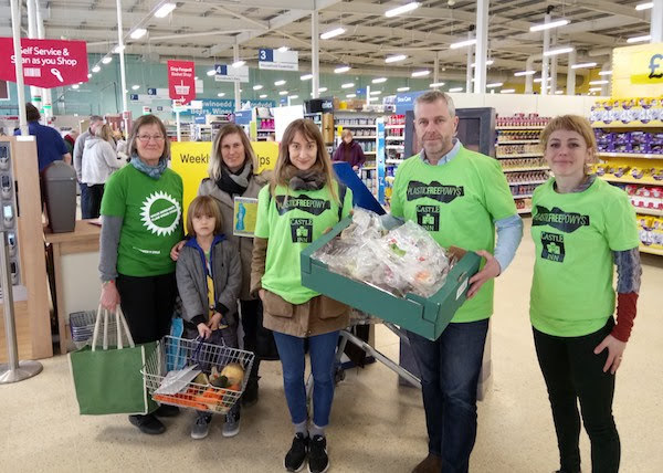 Plastic protest held at town supermarket