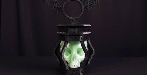 Светильник в форме черепа