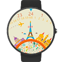 Travel the world Watch Face icon