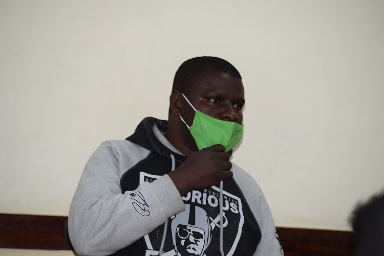 Dennis Okoth Onyango at a Makadara law court. Onyango was convicted of sodomizing a 16 years old boy