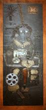 """Photo: Antonio Berni Taco para """"Ramona costurera"""". 1963. 159,8 x 72,1 cm. Madera, metal, cuero, plástico y tejidos. Colección particular, Buenos Aires. Expo: Antonio Berni. Juanito y Ramona (MALBA 2014-2015)"""