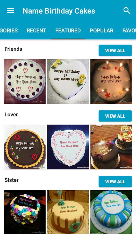 Name Birthday Cakes & Wishes- screenshot