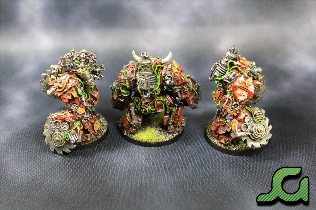 Mega Armoured Nobz Squad Green Rear