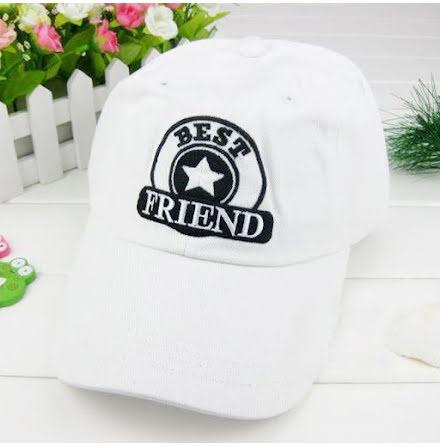 Golfkeps VANCL Best friends, vit medium