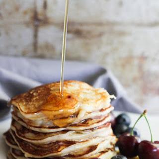 Vanilla Yogurt Cherry Pancakes Recipe
