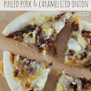 Individual Pulled Pork & Caramelized Onion Pizza.