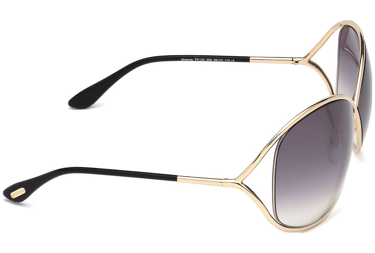 Smoke Gradient Lens FT0130 Tom Ford Miranda Sunglasses TF 130 28B Rose Gold