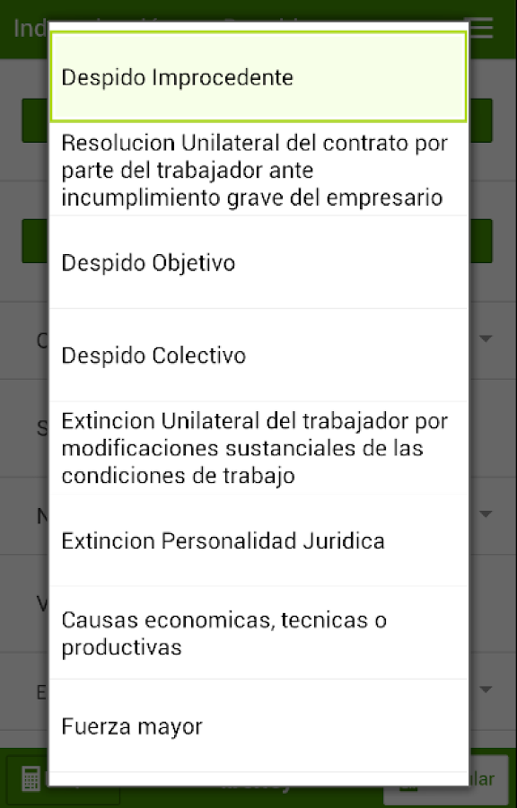 Indemnización despido- screenshot