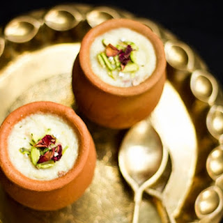Mum's Gulab Phirni Recipe or Rose flavored Rice Pudding