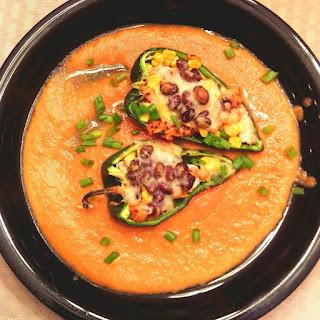 Southwestern Quinoa Stuffed Poblano Peppers.