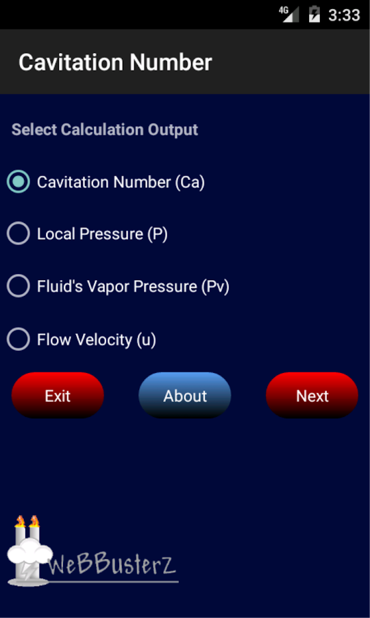 Cavitation Number Free- screenshot