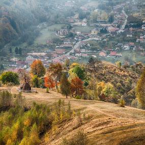 Autumn  by Emil Zaman - Landscapes Mountains & Hills ( hills, village, autumn, tranquility, autumn colors )