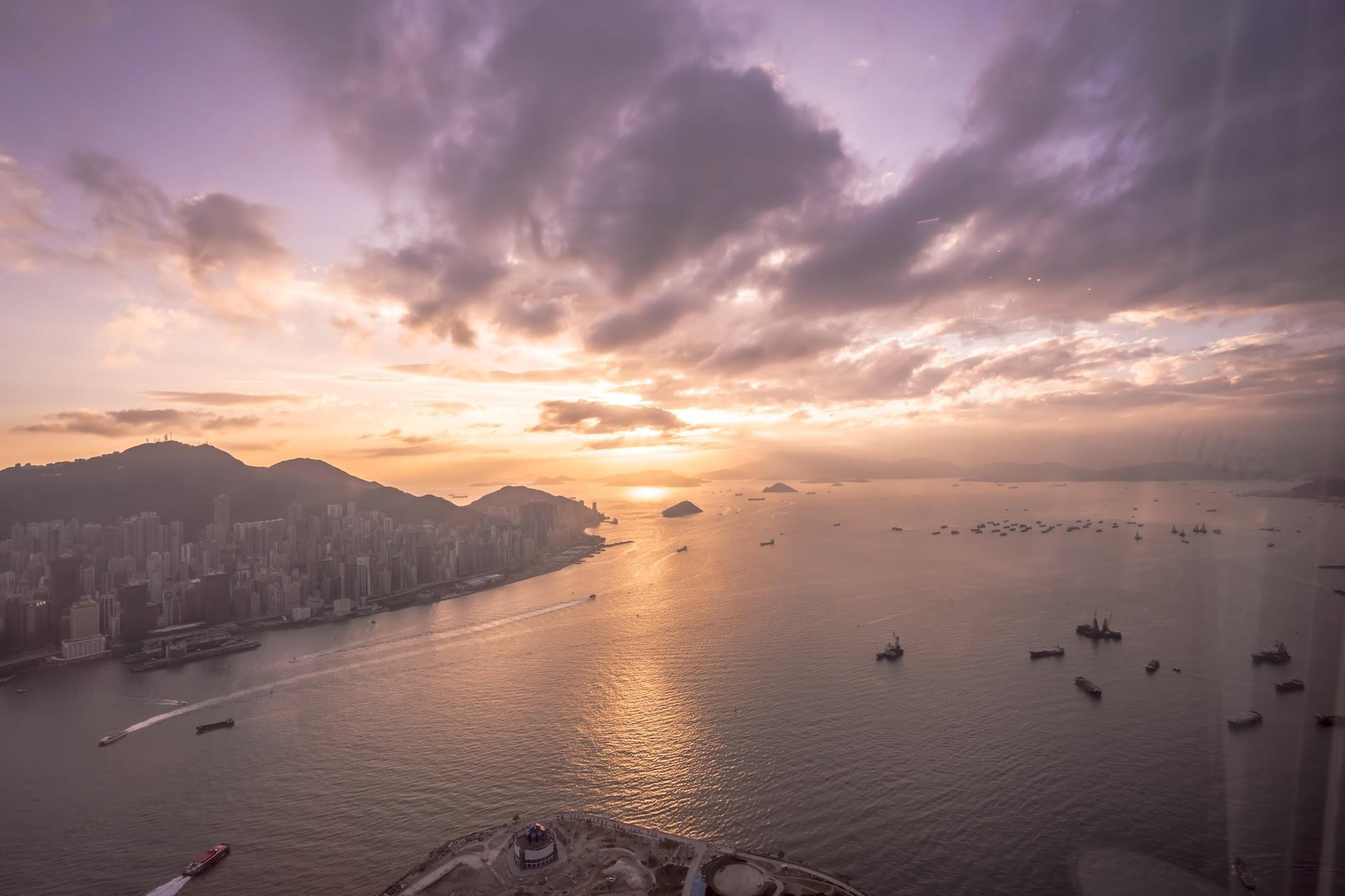 香港 スカイ100(sky100) 夕景1