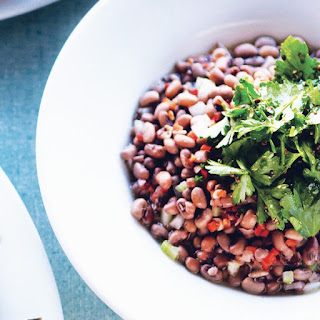 Sea Island Red Peas with Celery Leaf Salad.
