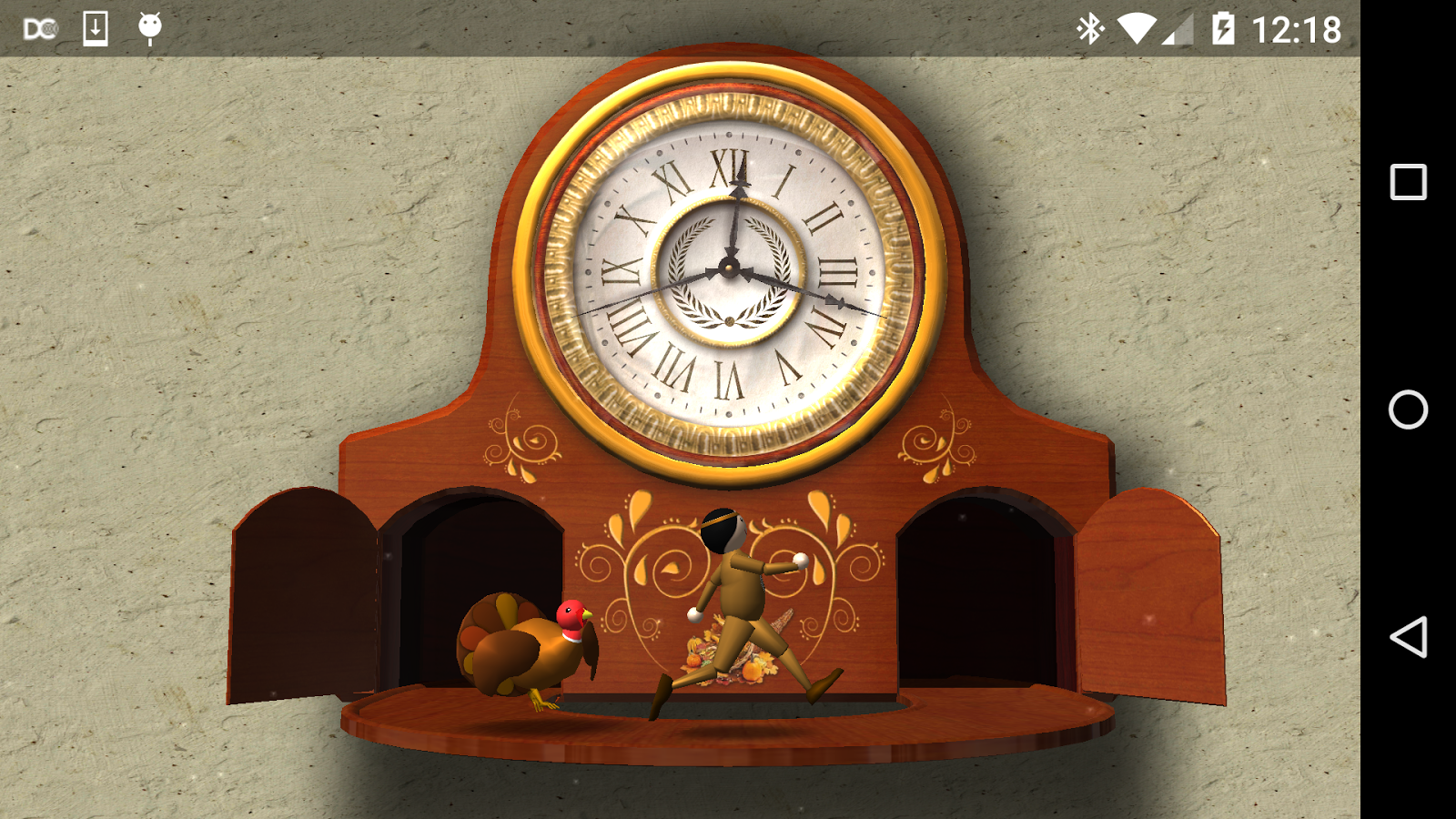 Thanksgiving Animated Clock 3D- screenshot