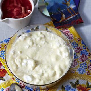 Semolina Pudding With Rhubarb Compote