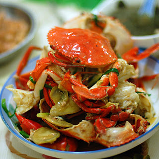 Ginger and Scallion Steamed Crab