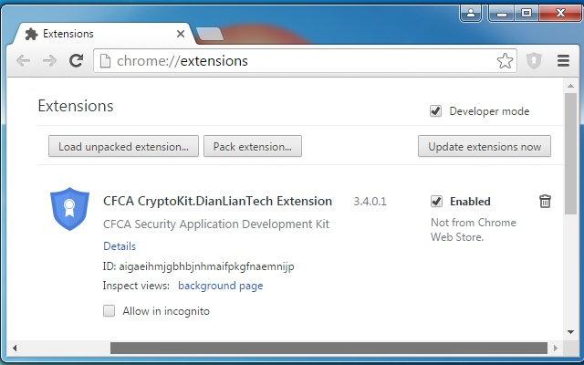CFCA CryptoKit.DianLianTech Extension