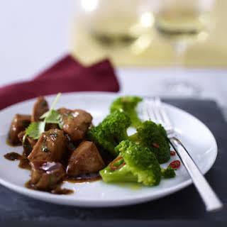 Marinated Chicken with Chili Broccoli.