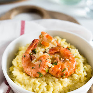 Saffron Shrimp Risotto.