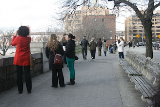 Photo: People at the Fruit Street Sitting Area in Brooklyn.