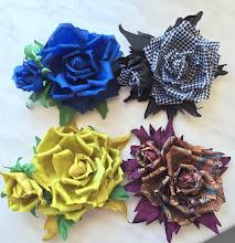 Photo: Цветы из ткани на платье