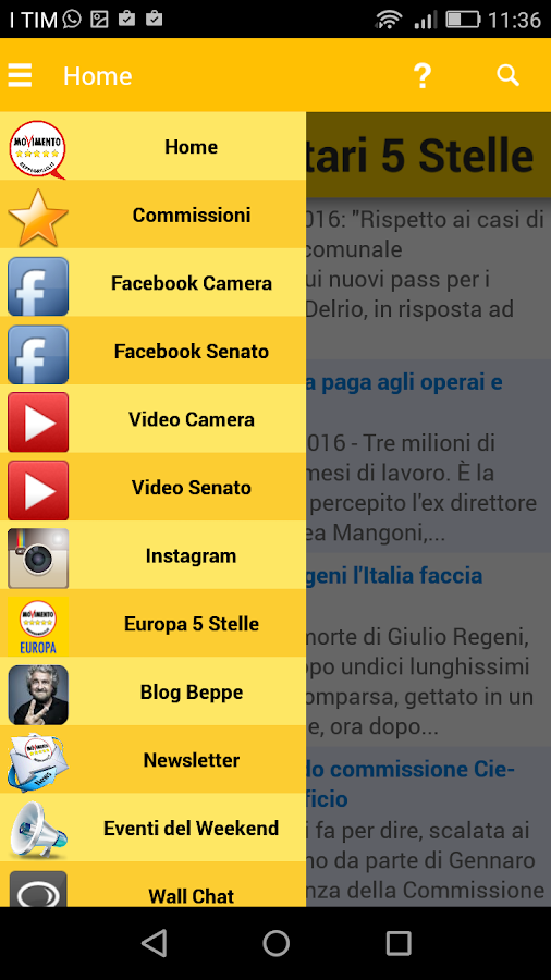 Parlamento M5S- screenshot