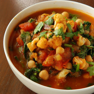 Cauliflower, Spinach and Chickpea Balti