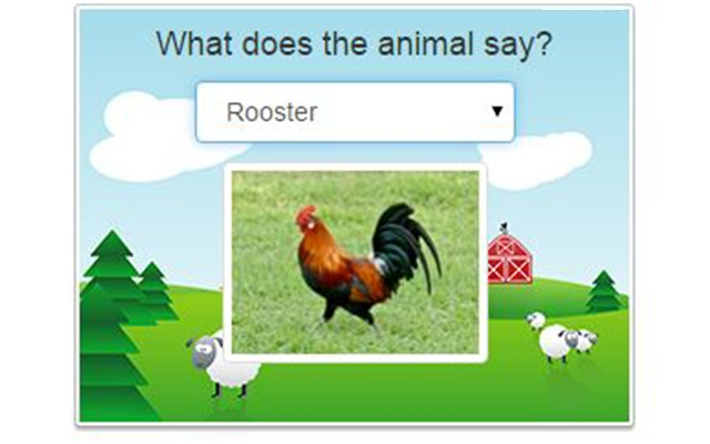 What does the animal say?