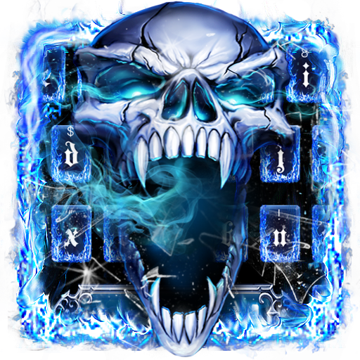 Smoke Skull Keyboard Theme