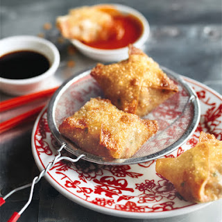 Crispy Crab And Ginger Dumplings.