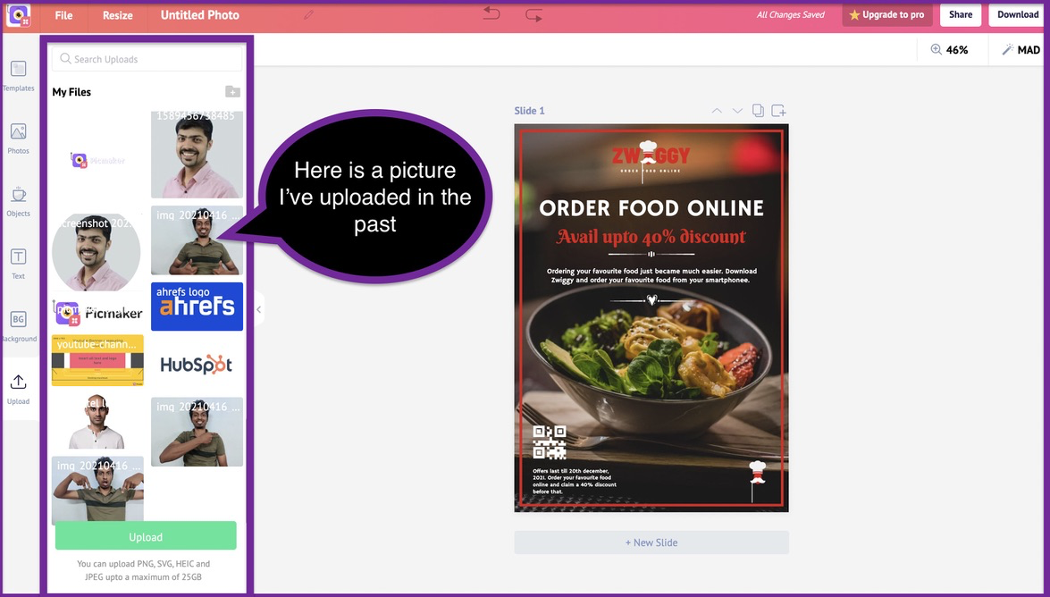 How to create a business flyer - step 7 -screenshot 1