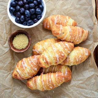 Blueberry Almond Crescent Rolls.