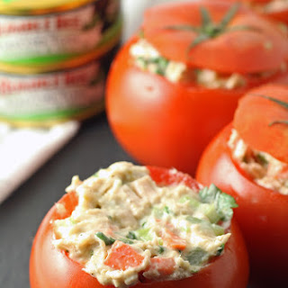 Jalapeno Tuna Stuffed Tomatoes