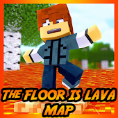 The floor is LAVA Map Challenge for MCPE Mod