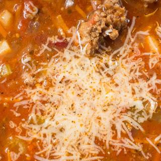 Pasta, Sausage and Bean Soup.