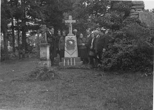 Photo: 02 Brzozdowce 1972 - cmentarz. Odnowione nagrobki rodziny Polańskich i Śliwaków, na miejscu ich starych grobów.